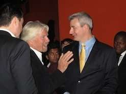Sir Richard Branson with Chris Johnson The Grant funding Expert at London Business 2012
