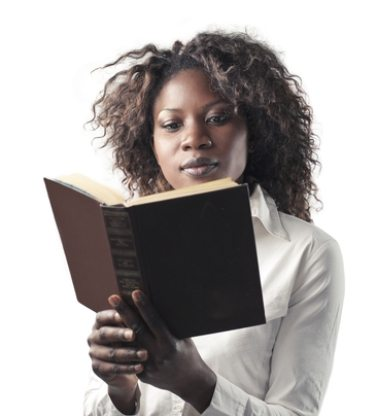 thick black women reading book