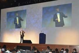 grant funding expert chris johnson on Main Stage at O2 London Business 2012 Event with Richard Branson Lord Sugar